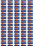 Colorado Flag Stickers - 65 per sheet